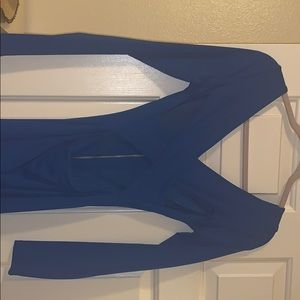 bebe Dresses - Sexy blue midi